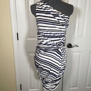 New without tags TART One Shoulder Rouched Dress M